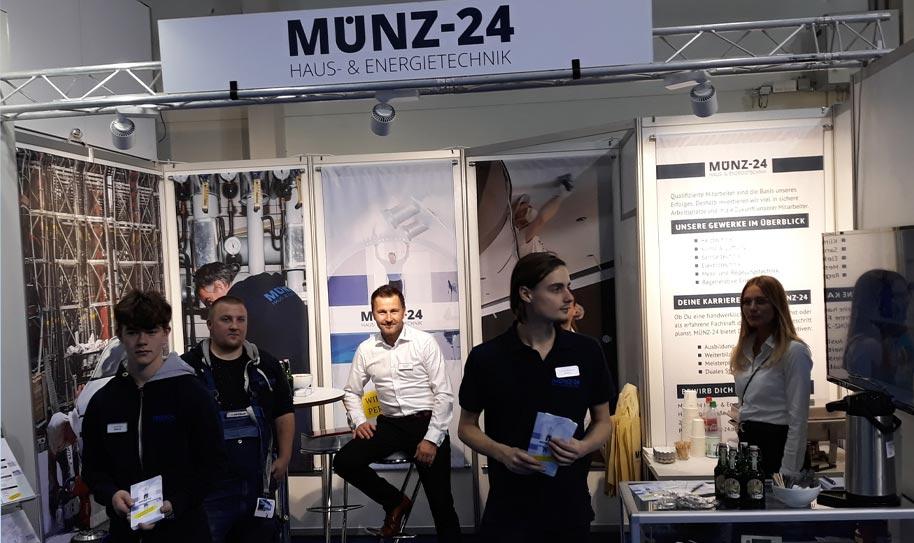 MÜNZ-24 Haus- und Energietechnik war auf der Fachmesse GET Nord